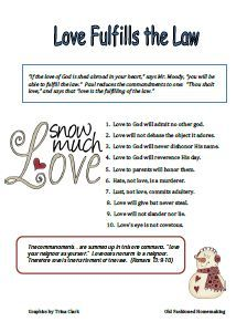 Free Printable - Love Fulfills the Law