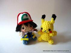 Ash and Pikachu Amigurumi. $45.00, via Etsy.
