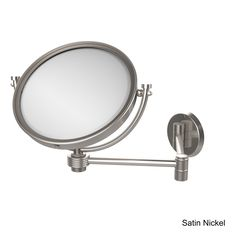 Allied Brass 8-inch Wall-mounted Extending 4X Magnification Make-Up Mirror with Groovy Accent (Venetian Bronze), Clear