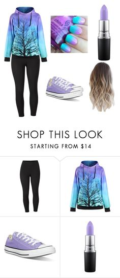 """""""Color Mix"""" by saraleahy ❤ liked on Polyvore featuring Venus, Converse, MAC Cosmetics and plus size clothing"""