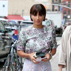 Fashion retailer and Saudi Princess, Deena Abdulaziz, arriving for Jason Wu SS16 at Spring Studios in New York City on Friday.