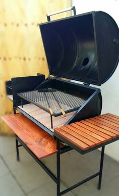 Grill Oven, Bbq Grill, Grilling, Bbq Pit Smoker, Fire Pit Bbq, Barbecue Design, Grill Design, Parrilla Interior, Custom Bbq Smokers
