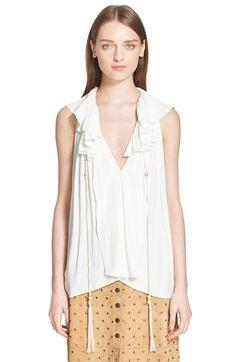 LANVIN Ruffle Front Blouse. #lanvin #cloth #blouse #top