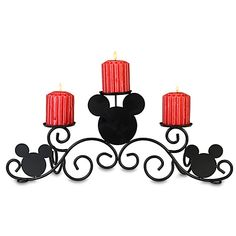 Mickey Mouse Candle Holder - please bring this to me Santa! Mickey Mouse House, Mickey Mouse Kitchen, Mickey Mouse Christmas, Disney Kitchen, Disney Christmas, Disney Mickey Mouse, Minnie Mouse, Casa Disney, Disney Rooms