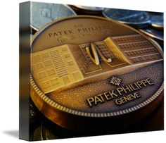 "Patek Philippe Geneve Commemorative Medal Coin $74 // Style: Soft Edge Canvas Print; Size: Small 11"" x 15"" // Visit http://www.imagekind.com/Patek-Philippe-Geneve-PPG_art?IMID=f3908c20-ea81-4cad-96a2-bcfab5a6a254 for product details."