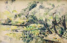 Eau marécageuse (près de Melun?) von Künstler Paul Cézanne, Eau, 1872, Paul, Près, Kunst, Sumpf, Cezanne, Cézanne