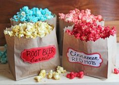 Sugar Popcorn, Popcorn Snacks, Flavored Popcorn, Gourmet Popcorn, Popcorn Recipes, Party Snacks, Snack Recipes, Candy Popcorn Recipe Corn Syrup, Homemade Popcorn