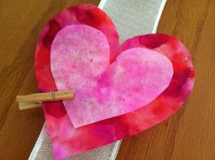 tie dye valentine article - no mess. Coffee filter, markers and water. Valentine Day Crafts, Valentine Heart, Valentines, Valentine Ideas, Crafts For Girls, Arts And Crafts, Paper Crafts, Kid Crafts, Classroom Crafts