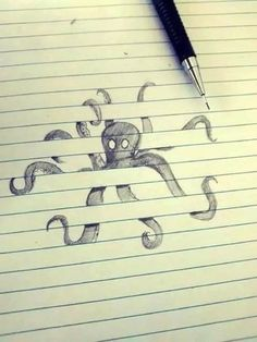 Notepad drawing, Octopus