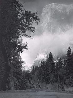 El Capitan, sunrise winter, Yosemite National Park, California, 1968 | Ansel Adams