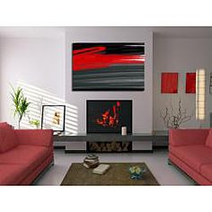 Great Piece for a modern home! @Overstock - Artist: Maxwell DicksonTitle: RougeProduct type: Gallery-wrapped canvas arthttp://www.overstock.com/Home-Garden/Maxwell-Dickson-Rouge-Abstract-Canvas-Wall-Art/6595724/product.html?CID=214117 $157.99