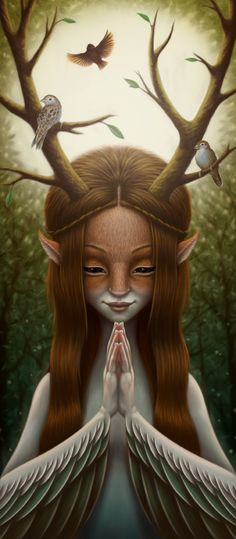 "Nature: ""Spirit of the #Trees,"" by Nekranea, at deviantART."