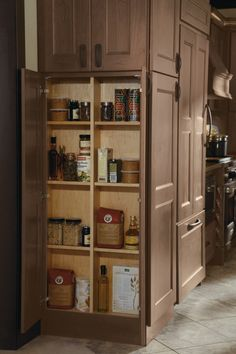 Waste no space with #Dynasty's clever and convenient end of run cabinet. It's your space, now you can use it all!