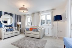 The living room in The Sheringham at Pebble Beach in Seaton | Bovis Homes