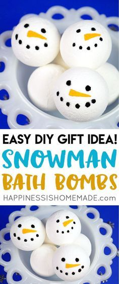 Want to learn how to make bath bombs? This simple DIY snowman bath bomb recipe i… Want to learn how to make bath bombs? This simple DIY snowman bath bomb recipe is perfect for beginners and a great idea for holiday gift giving! Wine Bottle Crafts, Mason Jar Crafts, Mason Jar Diy, Bath Bomb Ingredients, Bombe Recipe, Bath Bomb Recipes, Easy Diy Gifts, Diy Décoration, Diy Crafts