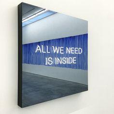 night–man:  All we need is inside, Jeppe Hein. Photo Jon Gasca.