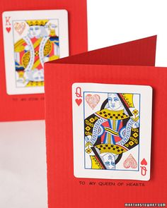 Give your valentine a regal greeting with these King and Queen of Hearts greeting cards