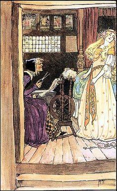 Ilustraciones de La Bella Durmiente Millicent Sowerby (1909)