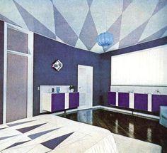 Vintage purple room