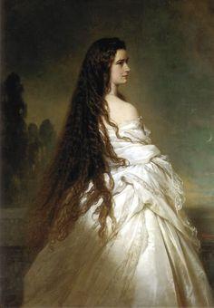 Empress Elisabeth of Austria by Franz Xaver Winterhalter