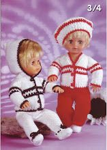 FREE patterns - KNIT - for all sizes of dolls incl. Barbie and Ken outfits Knitted Doll Patterns, Knitted Dolls, Baby Patterns, Knitting Patterns Free, Baby Knitting, Crochet Patterns, Free Pattern, Knitting Dolls Clothes, Baby Doll Clothes