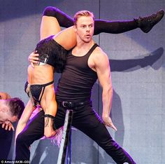 Derek Hough Dances In The Rain For Move Live On Tour - Watch The Vid!: Photo Derek dips sister Julianne Hough way back while performing on their Move Live on Tour on Thursday night (July in Raleigh, N. Derek And Julianne Hough, Derek Hough, Dancing In The Rain, Dancing With The Stars, Julianne Hough Burlesque, Maksim Chmerkovskiy, Boy Celebrities, Black Bralette, Diana Ross