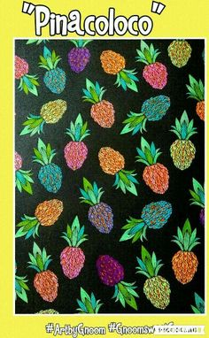 #ArtbyGnoom #GnoomsweetGnoom #colouring#pineapple