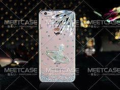 ヴィヴィアンiPhone7 7plusケース キラキラ ジャケット クリアケース 土星 galaxy s6/s7カバー xperia XP保護ケース ラインストーン風