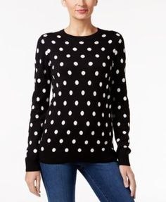 Charter Club Polka-Dot Sweater, Only at Macy's