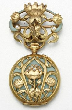 18K GOLD, ENAMEL AND DIAMOND PENDANT-WATCH, CIRCA 1900.