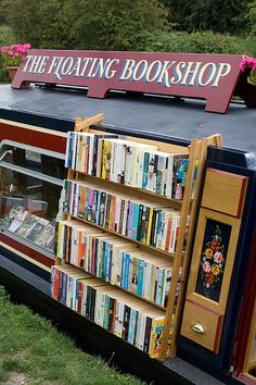 The Floating Bookshop coming to a waterway near you re-pinned by: http://sunnydaypublishing.com/books/