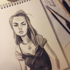 anna_cattish #Inktober 12 #girls