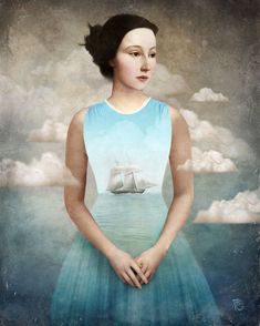 How many more months until our Nantucket vacation? By fantasy artist Christian Schloe