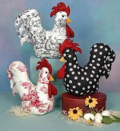 Cotton Ginnys Patterns - CG - Profile of a Rooster