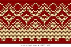 Christmas red knitted background Fair Isle Knitting, Tapestry Crochet, Loom Weaving, Cross Stitch Designs, Red Christmas, Cross Stitch Embroidery, Jumper, Sweater Patterns, Texture