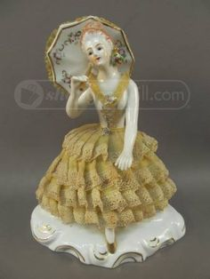 Would like to add / love these :-) Porcelain Lady Figurine with Dresden Lace Dress