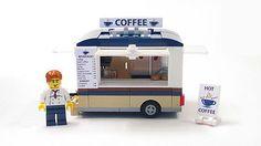 Lego Custom Coffee Trailer City Town