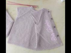 Eriş Modeli ile Yelek - YouTube Moda Crochet, Crochet Baby, Baby Knitting Patterns, Knitting Stitches, Knitting Videos, Baby Dress, Karma, Sewing, Youtube