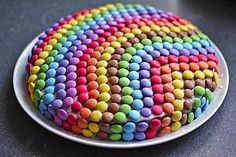 Smarties - cake (recipe with picture) by Cake Recipes With Pictures, Food Pictures, Birthday Desserts, Fall Desserts, Birthday Cake, Easy Smoothie Recipes, Snack Recipes, Smarties Cake, Coconut Milk Smoothie