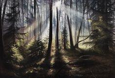 """Forest symmetry"", pastel, paper 120*100"