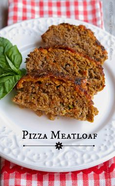 Pizza Meatloaf - Carrie's Experimental Kitchen Veal Recipes, Lamb Recipes, Meatloaf Recipes, Cookbook Recipes, Ground Beef Recipes, Veggie Recipes, Cooking Recipes, Kitchen Recipes, Pork And Beef Recipe