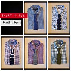 Amanda Christensen Knit Tie: $95, Gotstyle Shadow Check Shirt: $150, Gostyle Shadow Check Shirt: $150, Sand Saks 5 State Pattern Shirt: $195, Sand Slim Fit Floral Shirt: $225, Lipson Plaid Shirt (Green): $150