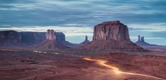 Light Trails in Monument Valley Photo by James Hale - 2015 Traveler Photo Contest