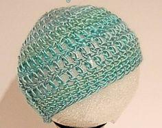 Crochet Baby Hat, Baby Boy Hat, Newborn Beanie, Baby Newborn Hat, Baby Girl Beanie, Green, Baby Boy Beanie, Newborn Hat - Item # CBH0015M