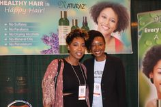 Naturaz Hair Founder Mumbi Dunjwa poses for a picture with Philly's Natural Hair blogger Julie Thomas (check her out at @juboolee on Twitter & Instagram)