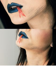 Snake makeup... not a fan of the tongue, but the erratic scales are lovely.