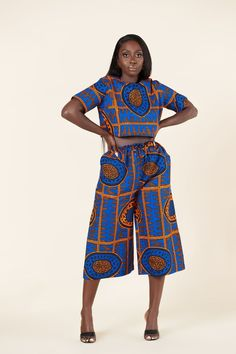 African Print Pants, African Print Clothing, African Map, African Fabric, Printed Pants, How To Make, How To Wear, Sweatshirts, Model