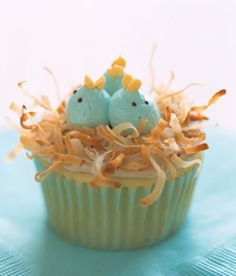 Baby bird Cupcake...Jan I made these for a spring school bakesale..they were so easy and gone in a flash!