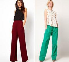 100 Ideas De Pantalones Anchos Pantalones Anchos Pantalones Moda
