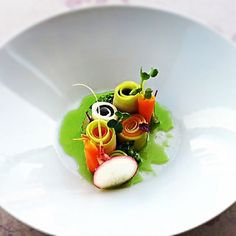 Assorted Vegetables on herbs Infused olive oil .. Chef Uwe Spätlich ...